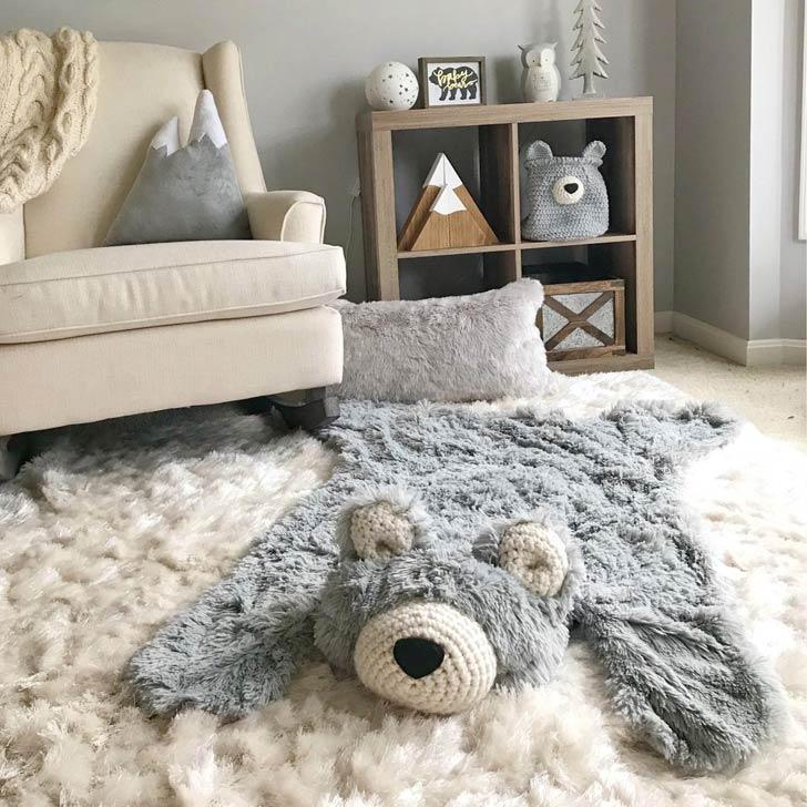 nursery bear rug
