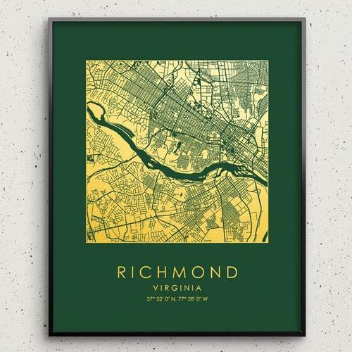 city map print decor