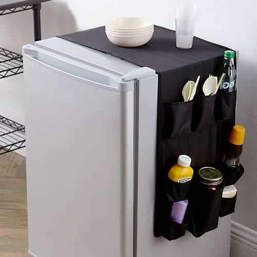 dorm room fridge organizer