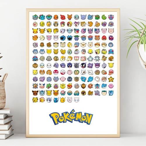 gen 1 pokemon print for dorm room