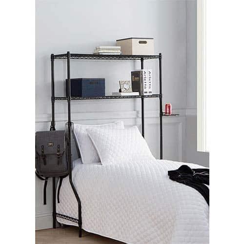 over the bed dorm room shelf for guys