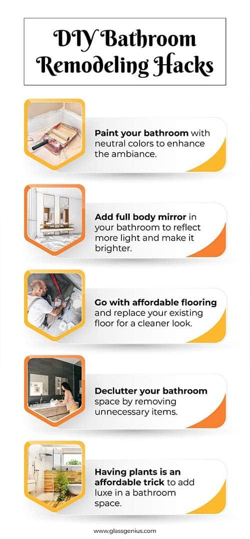 step-by step bathroom remodeling hacks